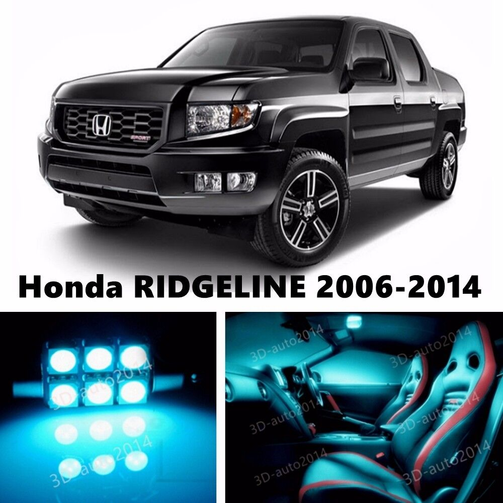 19pcs Led Ice Blue Light Interior Package Kit For Honda Ridgeline 2006 2014 Ebay