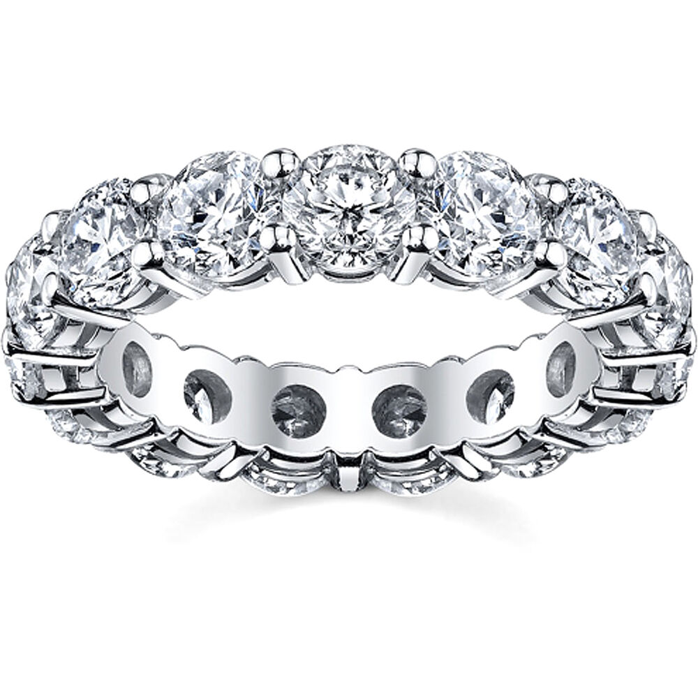 Full Bands: 2.50CT ROUND DIAMOND FULL ETERNITY RING 14K WHITE GOLD