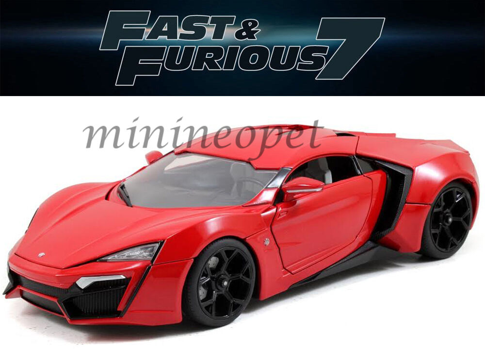jada 97388 2015 fast and furious 7 lykan hypersport. Black Bedroom Furniture Sets. Home Design Ideas