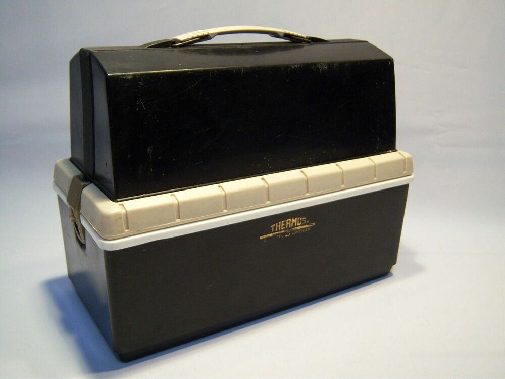 vintage king seeley thermos plastic lunch box ebay. Black Bedroom Furniture Sets. Home Design Ideas