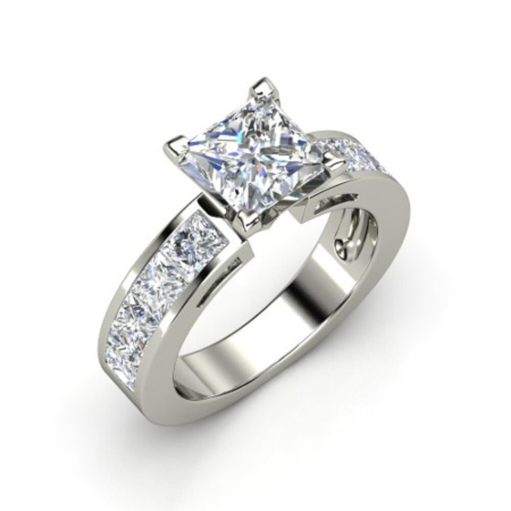 2 00ct Princess Cut Forever Diamond Solitaire Engagement