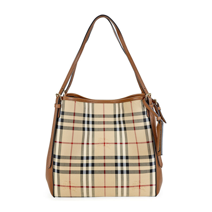 39796baf4d35 Burberry The Small Canter Horseferry Check Tote Bag
