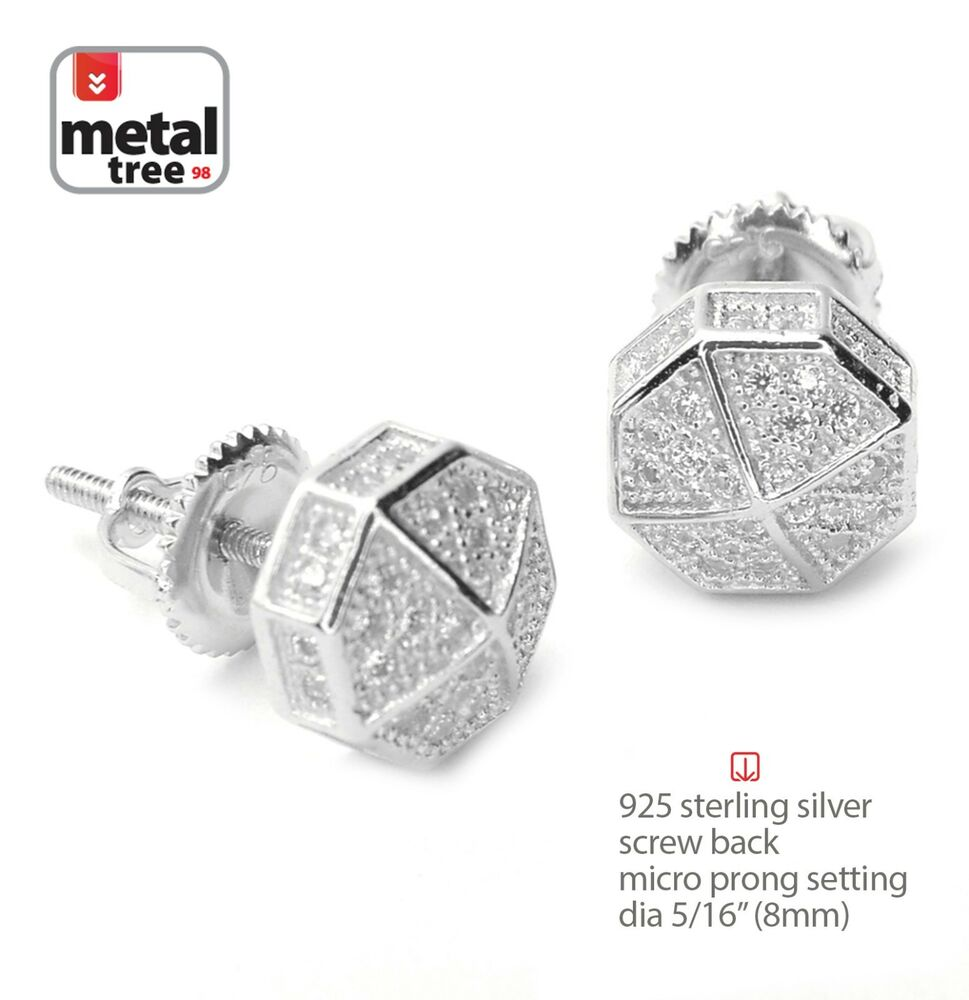 s hip hop rh plated iced out mini octagon back