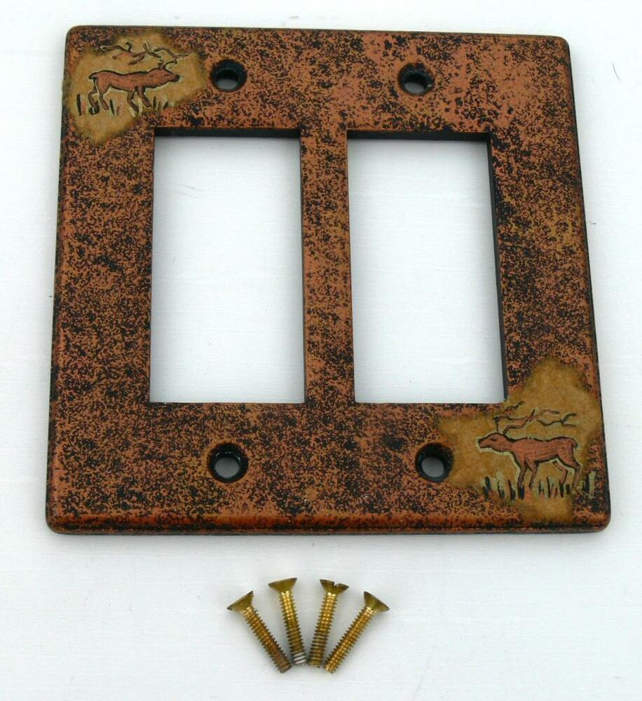 Light Switch Plate Cover: Hand Painted Southwest Decor