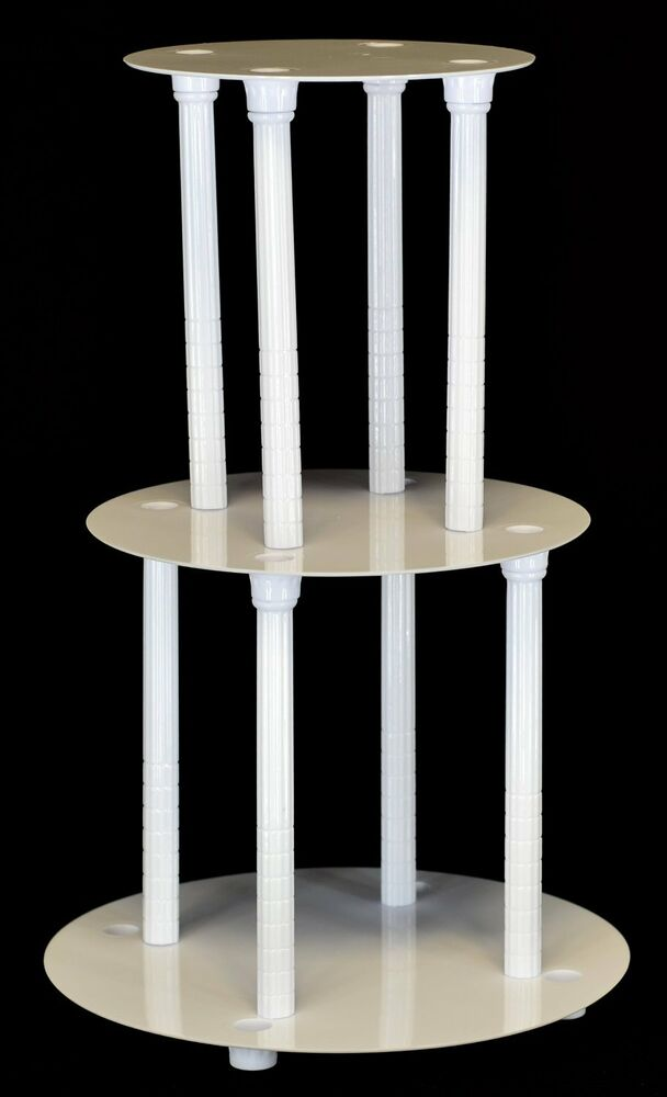 wedding cake plates and pillars 3 tier cake stand separator and pillar set style 1100 ebay 23505