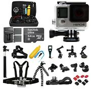 $349.99 GoPro HERO4 Black Edition 4K Action Camera Hero 4 Camcorder . CHDHX-401.