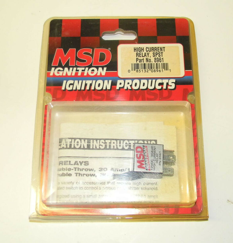 Msd ignition relay high current 30 amp single pole pn 8961 new ebay sciox Images