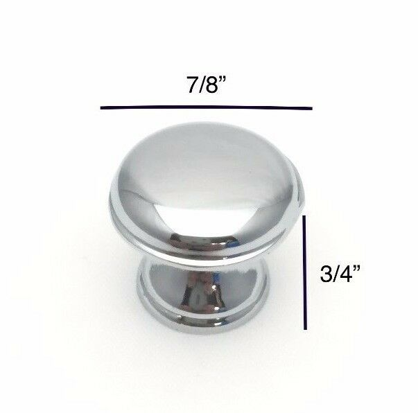 polished chrome cabinet drawer closet bathroom vanity knob pull