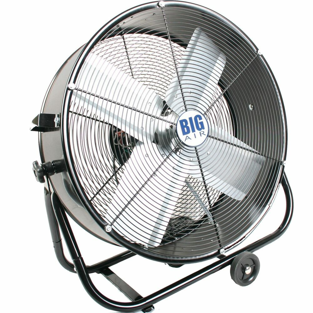 Portable Floor Fans : New large portable floor fan quot rolling tilt commercial