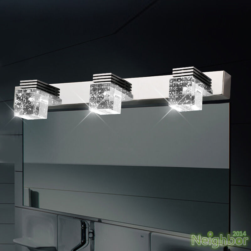 Crystal Wall Lights Contemporary : Modern LED Crystal Wall Light Mirror Front Lamp Wall sconce Bathroom lighting eBay