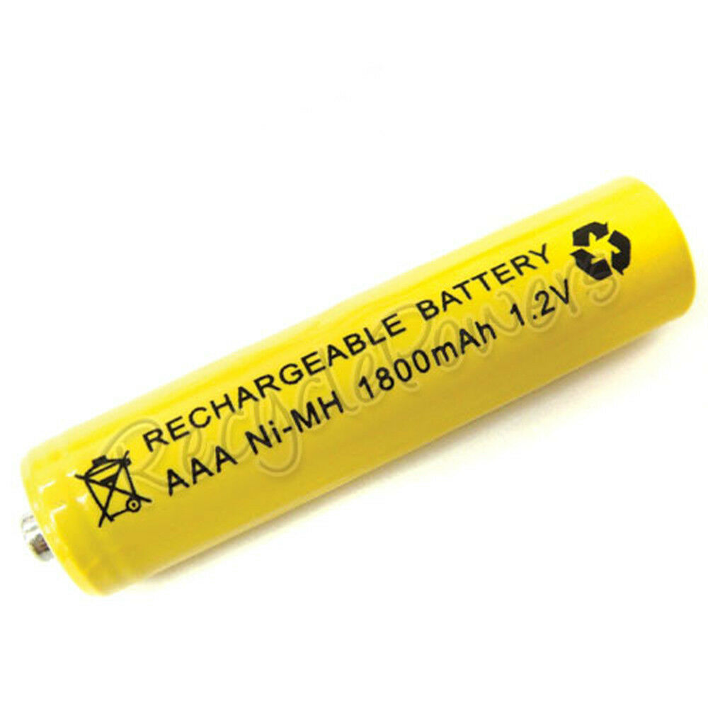 aaa lr3 r03 1800mah ni mh rechargeable battery yellow ebay. Black Bedroom Furniture Sets. Home Design Ideas