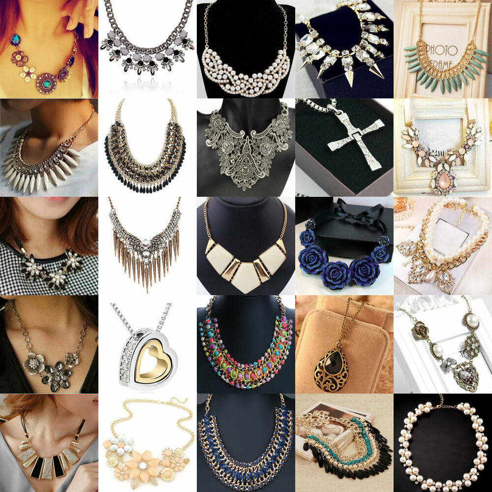 Fashion Women 60 Styles Chunky Collar Chunky Statement Bib Necklace Neck 03 Gift Ebay