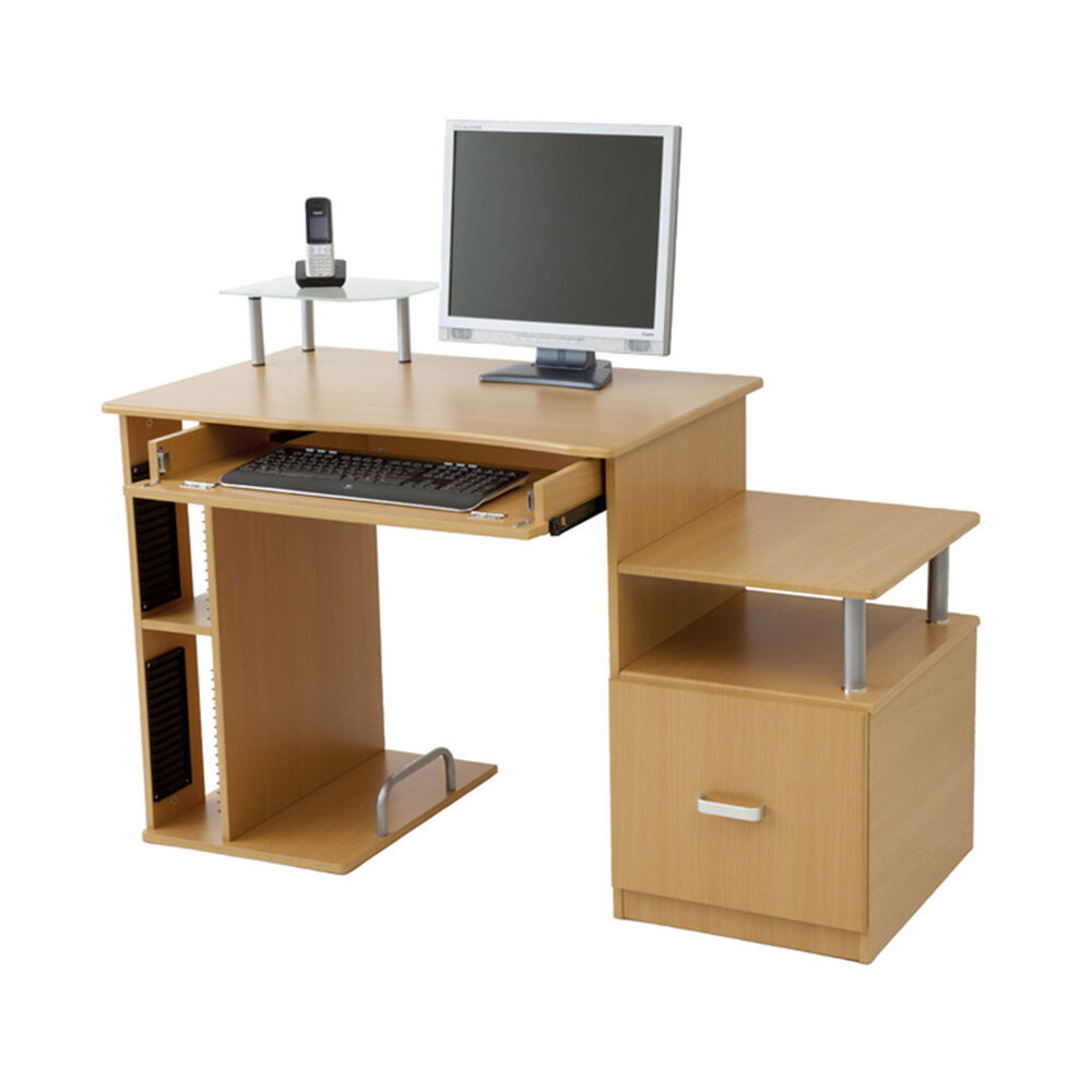 luxus computertisch schreibtisch tisch pascal buche ebay. Black Bedroom Furniture Sets. Home Design Ideas