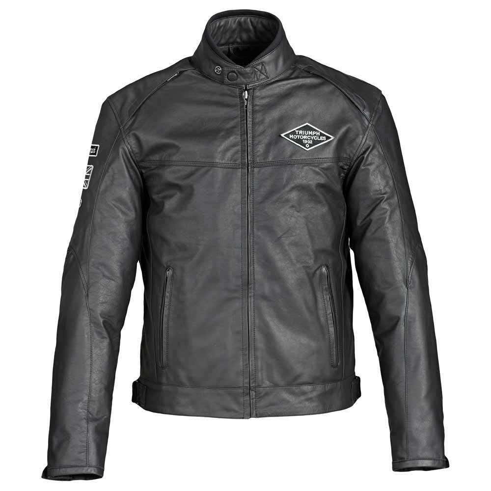 Triumph Custom Men's Leather Motorcycle Jacket Black ...