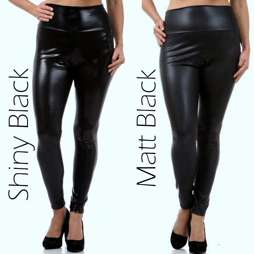 Black leather pants plus size
