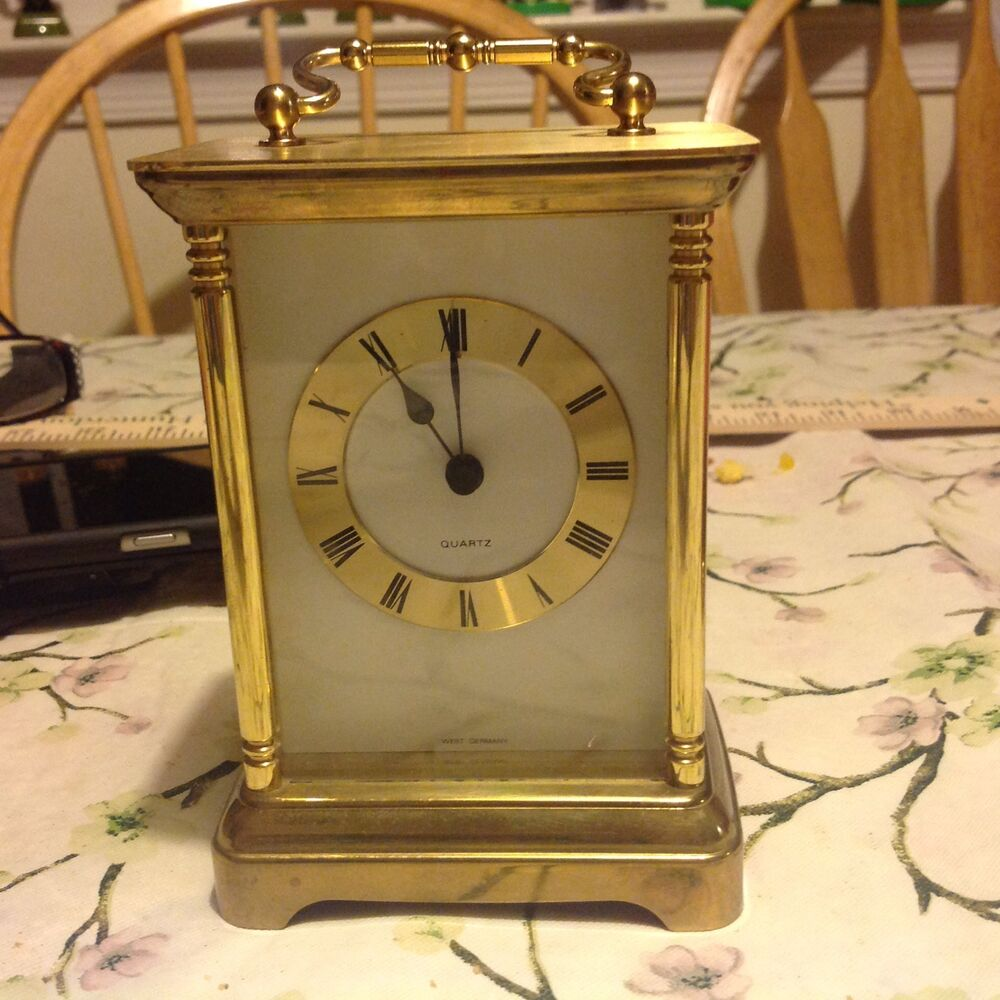Vintage Small Mantel Quartz Clock Made In West Germany Ebay