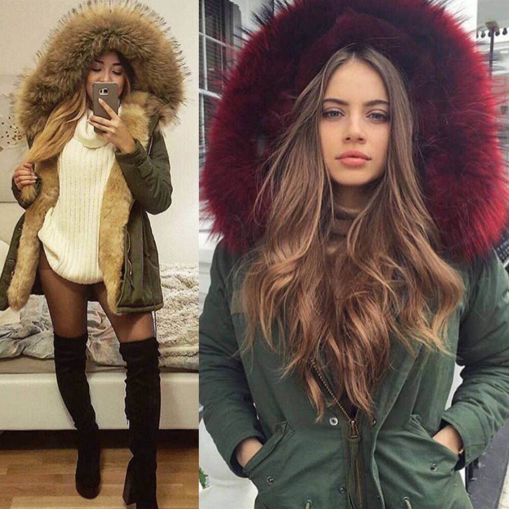 parka jacke blogger jacke winter fell fl7918 damen fashion kunstfell freshlions ebay. Black Bedroom Furniture Sets. Home Design Ideas