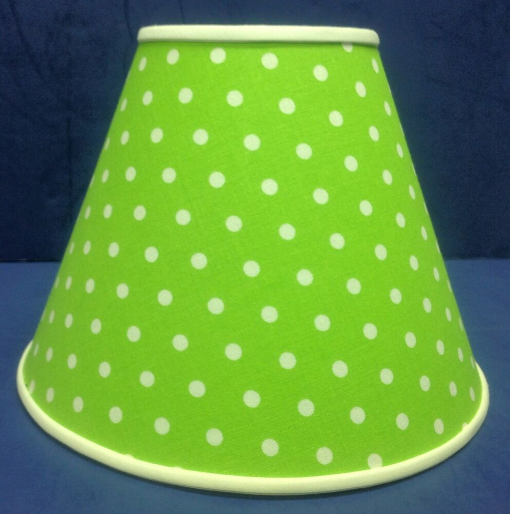 Lime Green White Dots Handmade Lamp Shade Lampshade | eBay