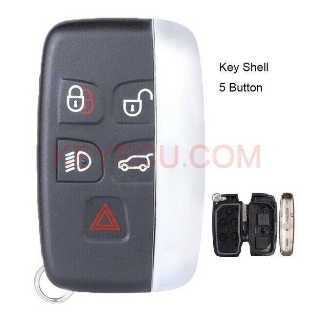 Smart Car Key Replacement >> New Replacement Smart Remote Key Shell Case Fob 5 Button for JAGUAR XJ XJL XF | eBay