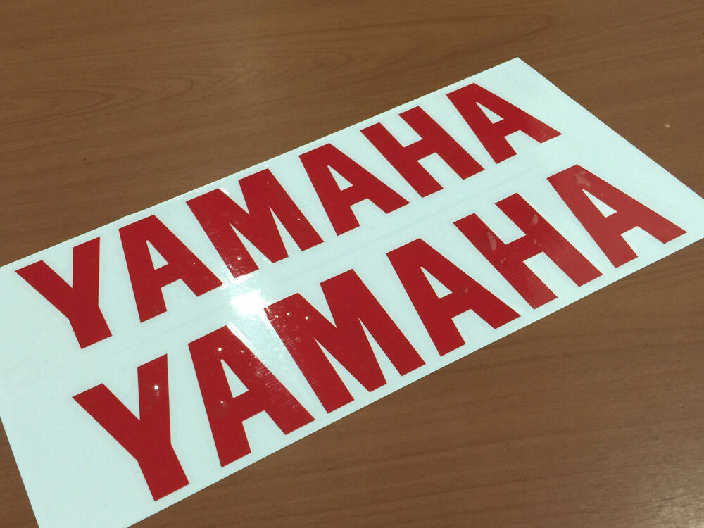 x2 yamaha decals stickers vinyl motorcycle yz yzf fzr r1 r6 size 6 12 ebay. Black Bedroom Furniture Sets. Home Design Ideas