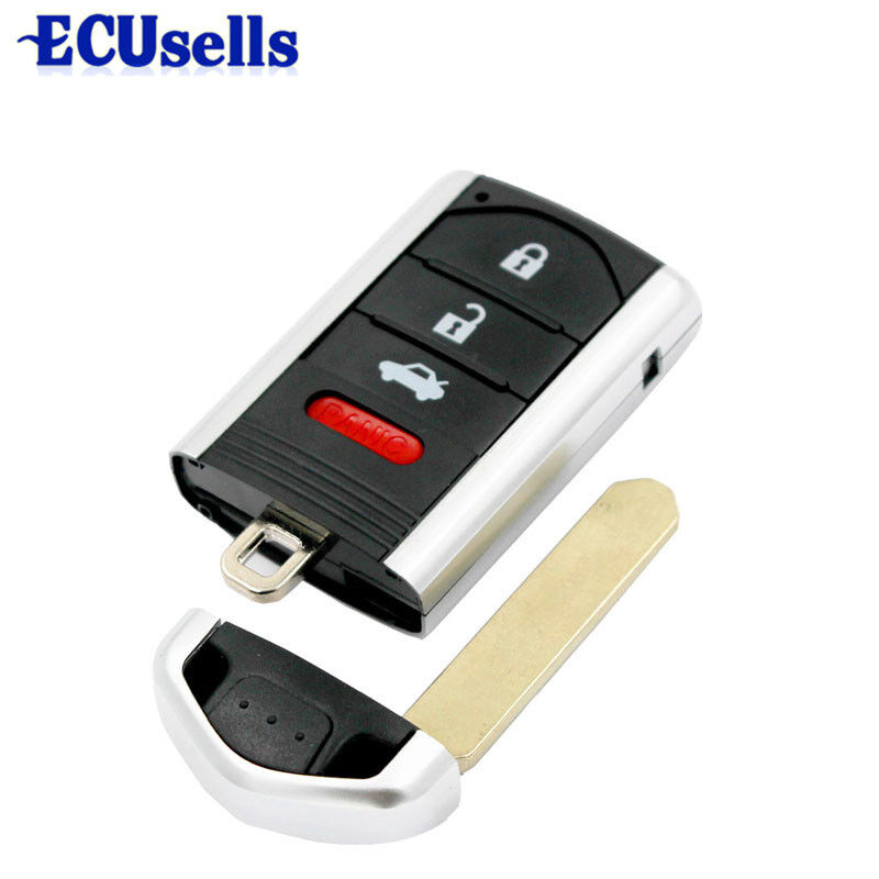 2016 Smart Remote Key Shell Case Fob 3+1 Button For Acura