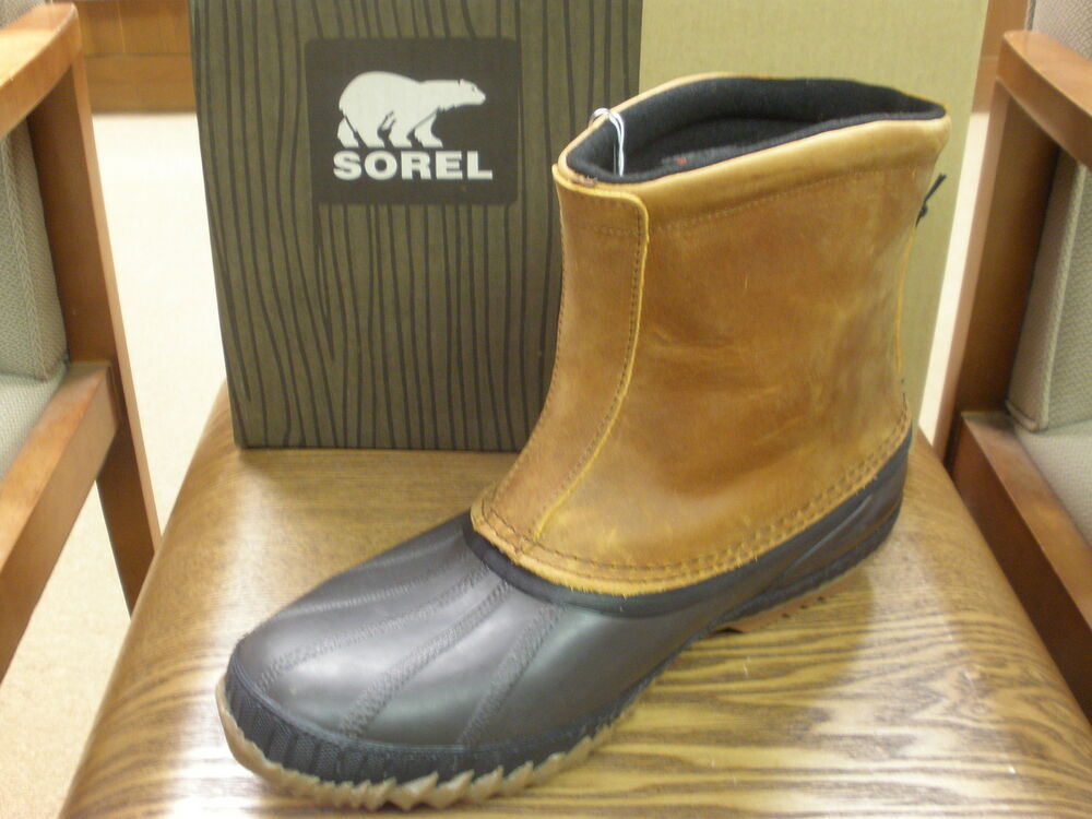 New Men S Sorel Winter Boot Cheyanne Premium Pull On In Waterproof Leather Ebay