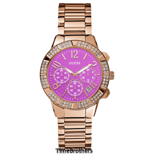 NEW GUESS WATCH for Women * Rose Gold Tone w/Pink Dial ...