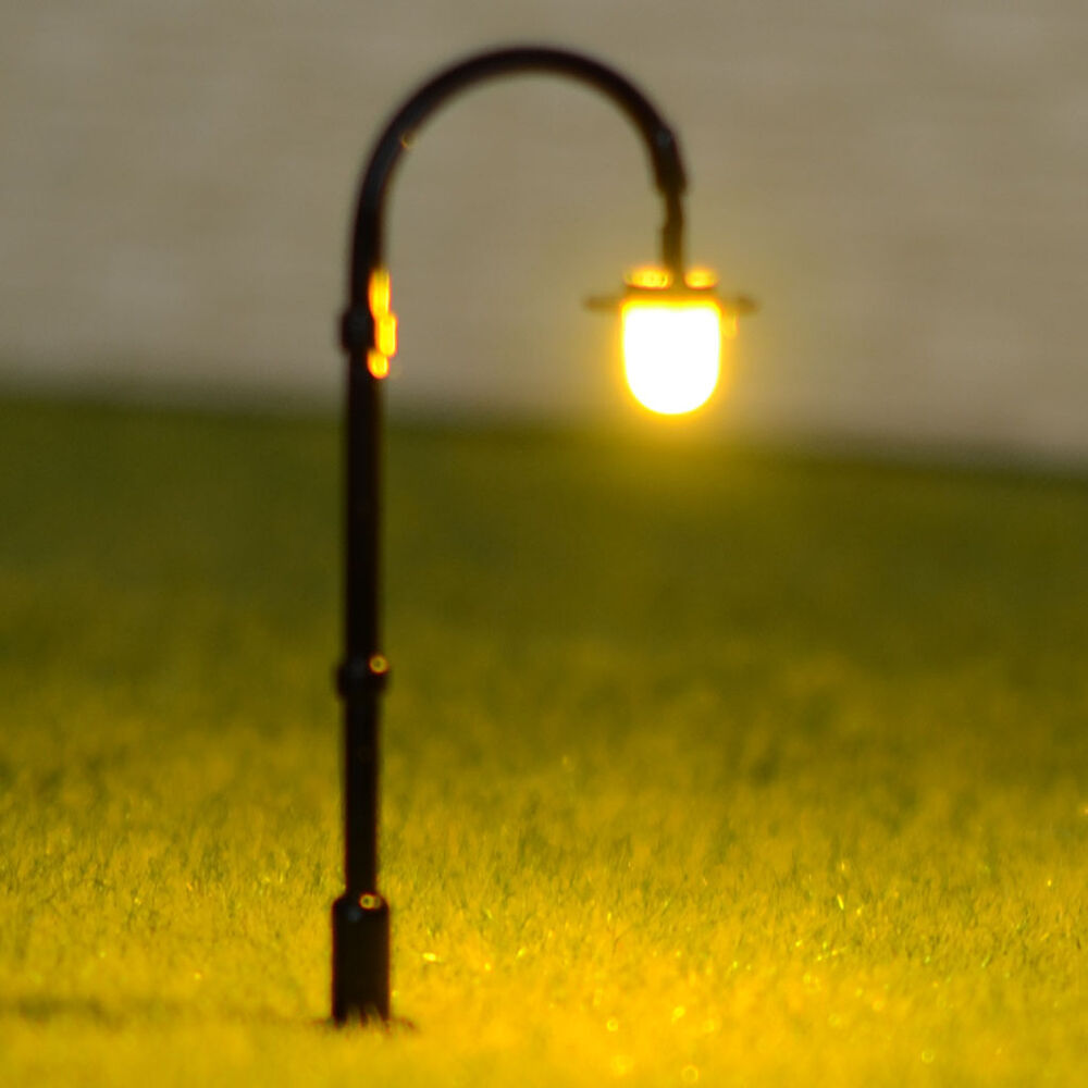 15 X N Scale Model Lampposts Warm White Leds Made Longlife
