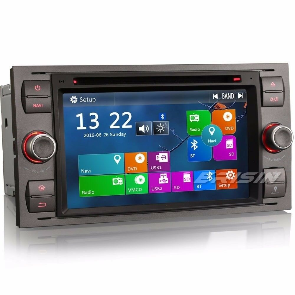7 autoradio gps ford c s max mondeo kuga galaxy fiesta fusion ipod 3g 7166tde ebay. Black Bedroom Furniture Sets. Home Design Ideas