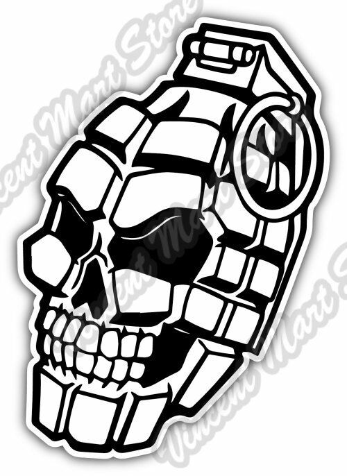 Hand Grenade Skull Army Soldier Watch Gift Car Bumper ...