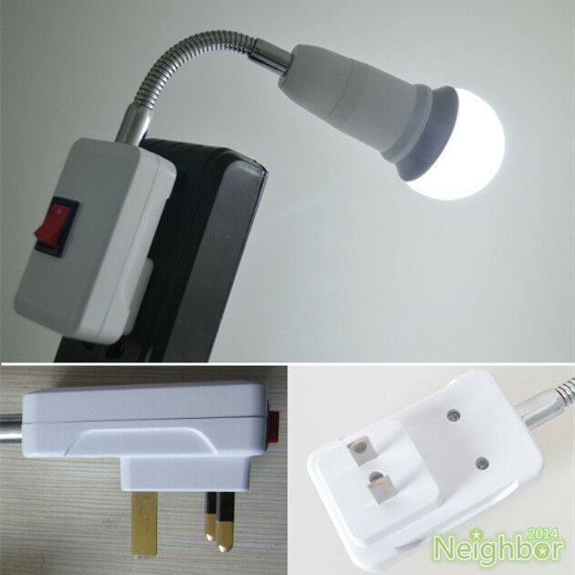 New Us Uk Plug Gooseneck Wall Light E27 Lamp Holder
