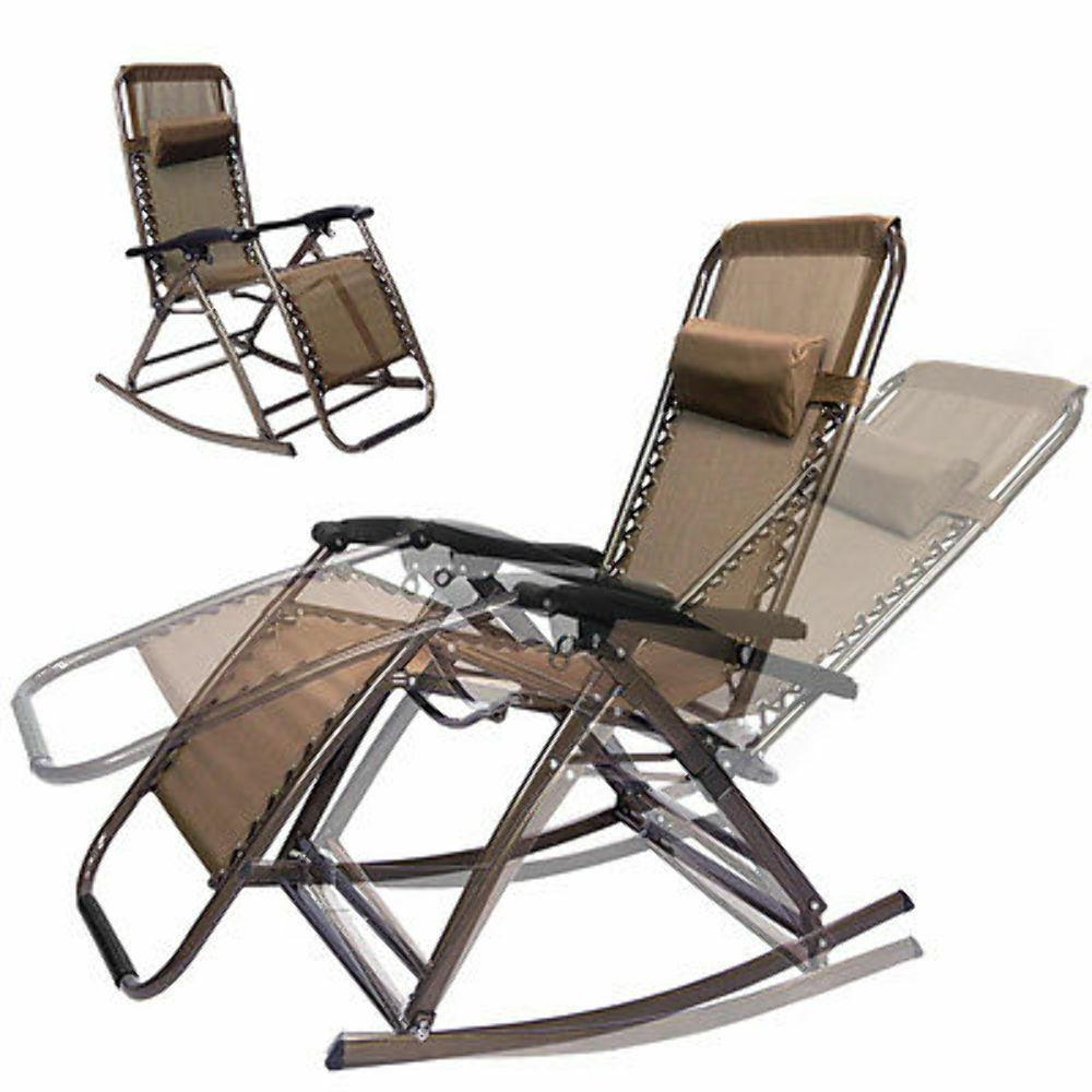 Infinity Zero Gravity Folding Reclining Chair Brown