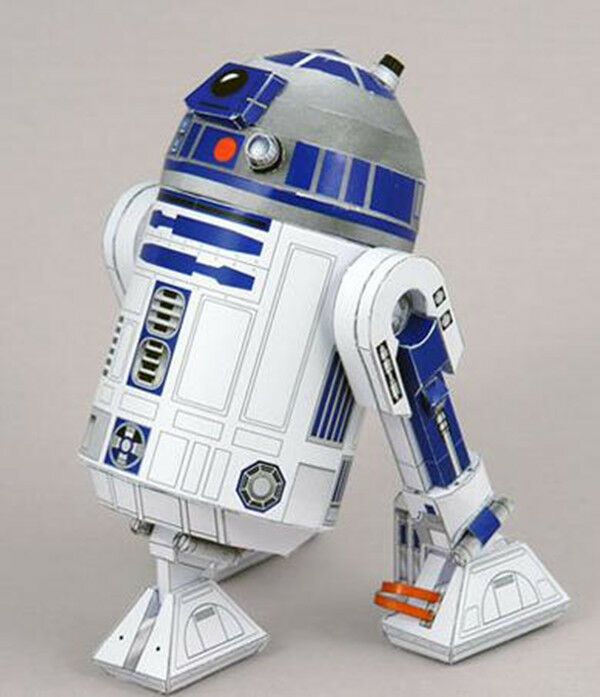 Film star wars wars r2 d2 star robot paper model kit ebay - Robot blanc star wars ...