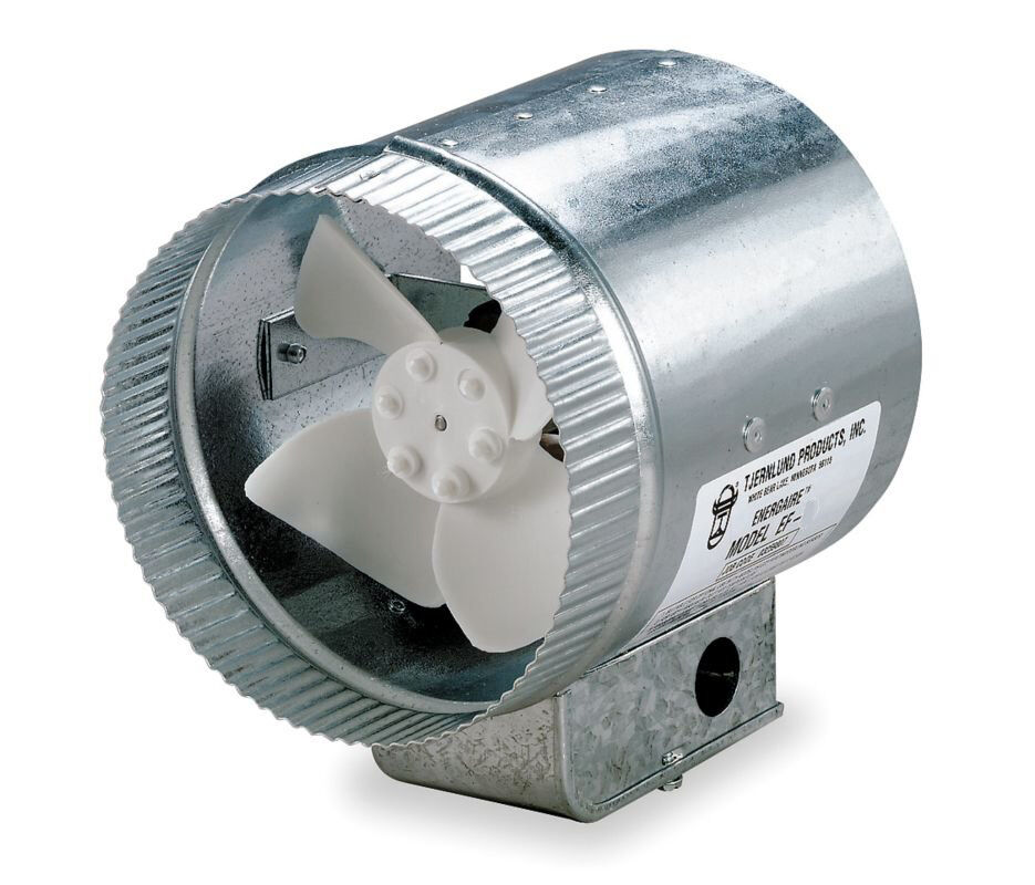 Heating Duct Booster Fans : Tjernlund quot round in line air duct booster fan volt