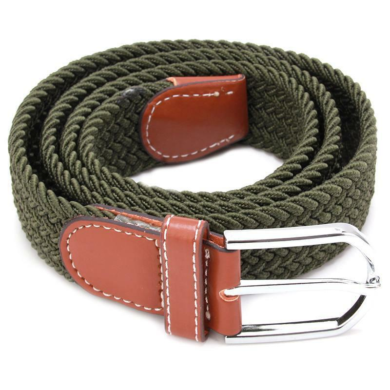 retro s pu leather covered buckle elastic golf wide