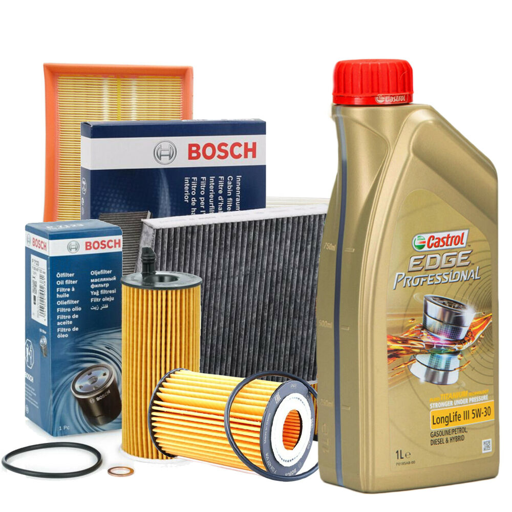 inspektionskit l castrol edge 5w30 filterset bosch audi. Black Bedroom Furniture Sets. Home Design Ideas
