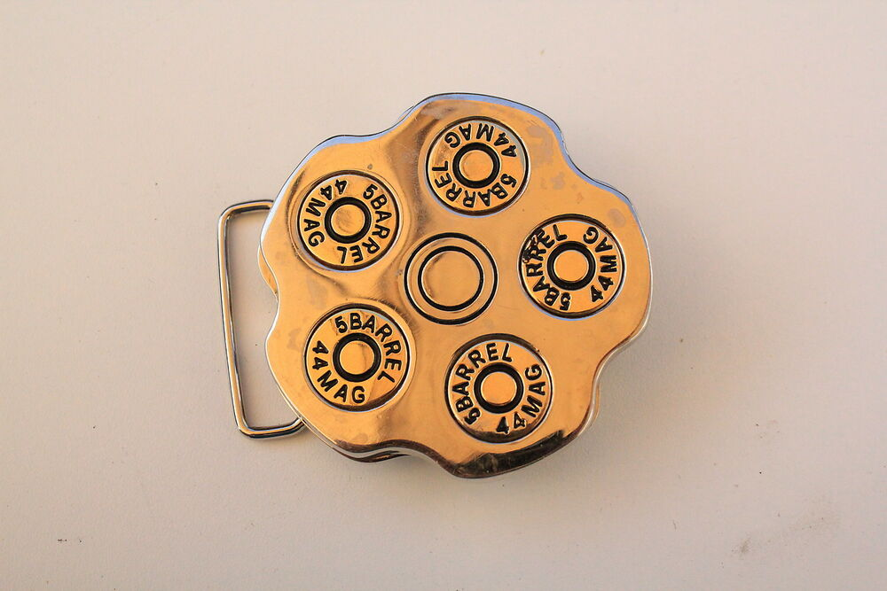Buckles & Hooks 5barrel 44mag Bullet Spinner Belt Buckle