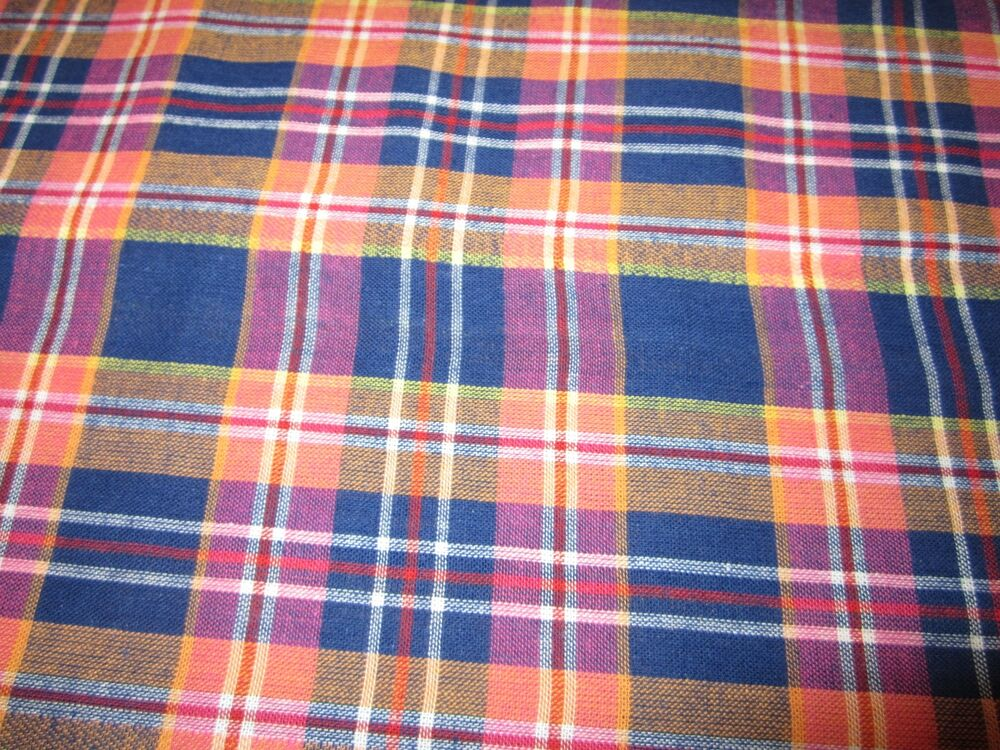 pink purple red blue woven plaid 100 cotton fabric bty x 44w new ebay. Black Bedroom Furniture Sets. Home Design Ideas