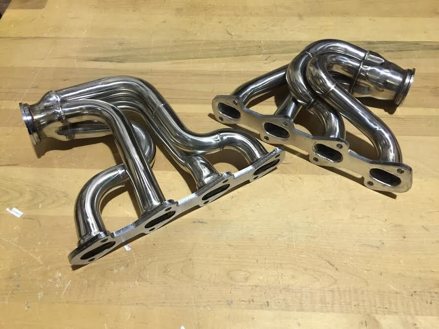 Ford Mustang 281 Stainless Twin Turbo Headers Cobra V8 4