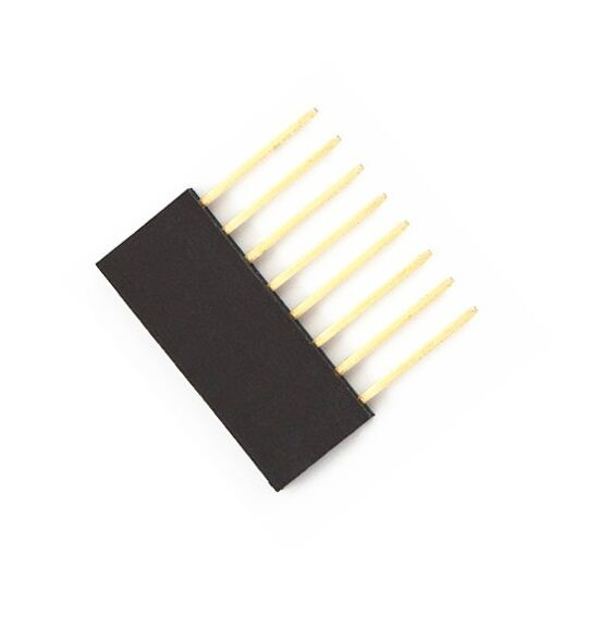 100pcs 8 Pin 2.54 mm Stackable Long Legs Femal Header For Arduino Shield