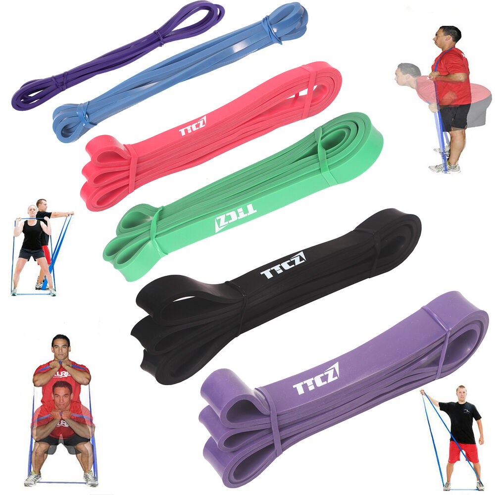 Tension Resistance Bands Exercise Loop Crossfit Strength