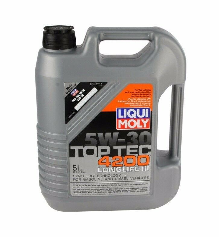 5 liter liqui moly top tec 4200 5w30 synthetic engine oil. Black Bedroom Furniture Sets. Home Design Ideas
