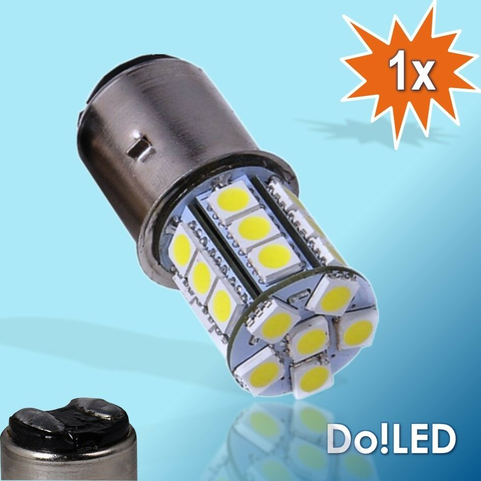 Led smd biluxlampe 6v 35 35w ba20d ba 20d gl hlampe for 6v lampen moped