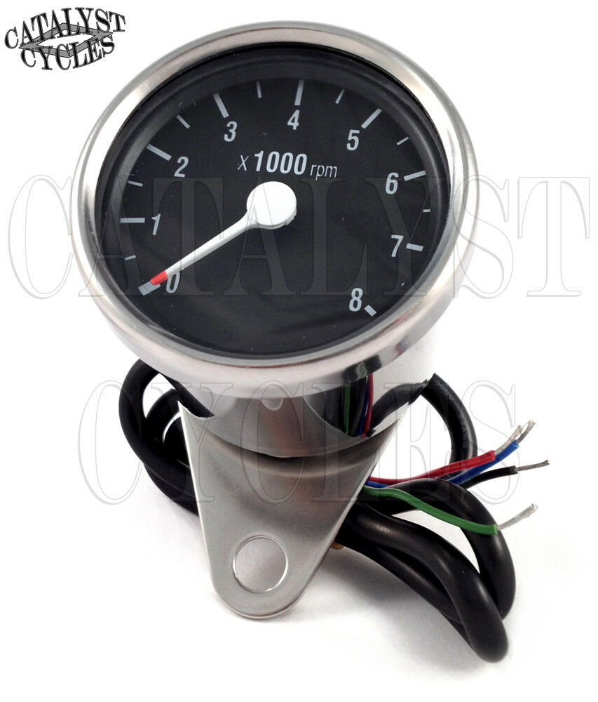 chrome tachometer for all dual fire ignitions motorcycle. Black Bedroom Furniture Sets. Home Design Ideas