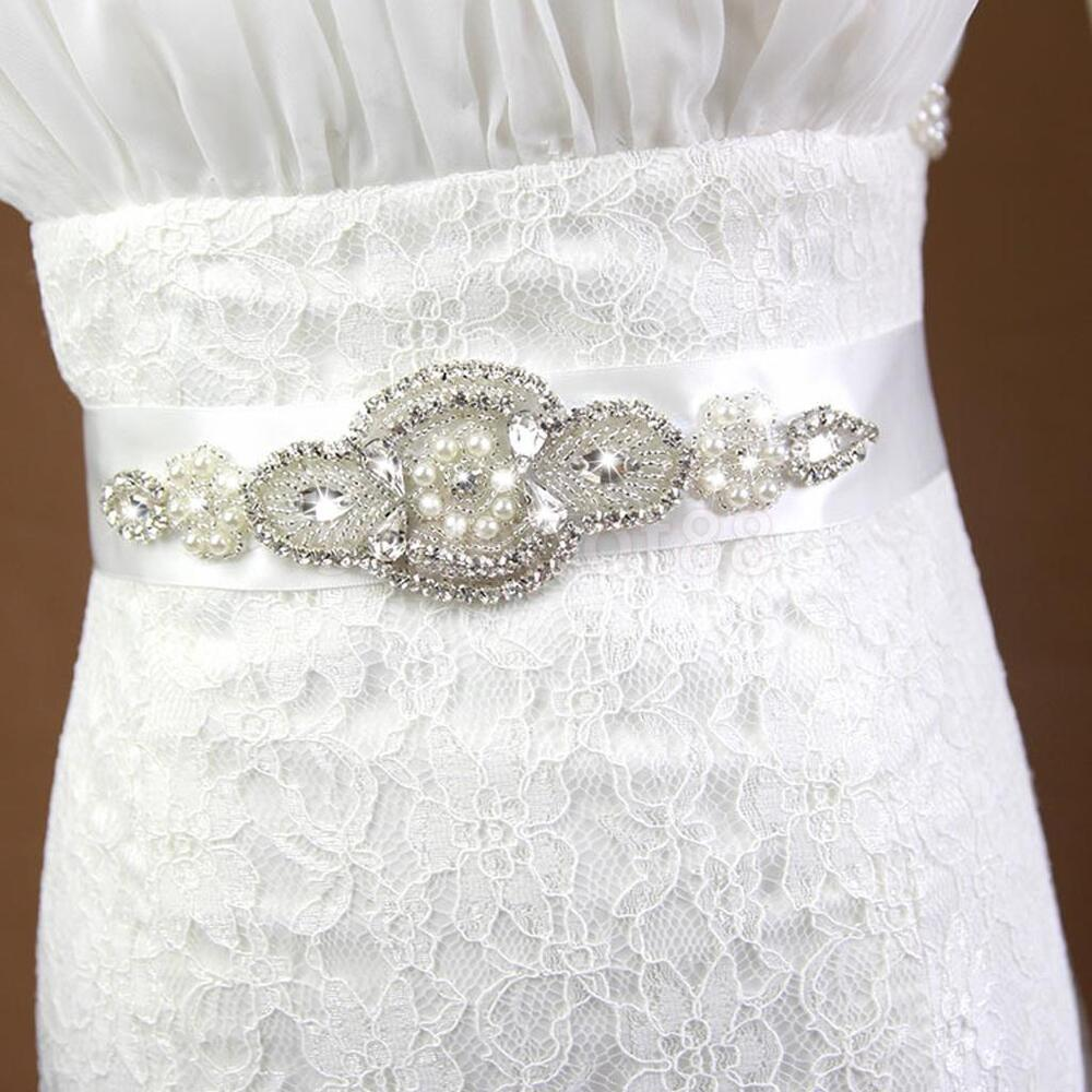 Bridal sash wedding belt crystal diamante dress rhinestone for Sparkly belt for wedding dress