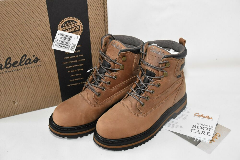 cabela s s roughneck 7 quot steel toe work boots brown