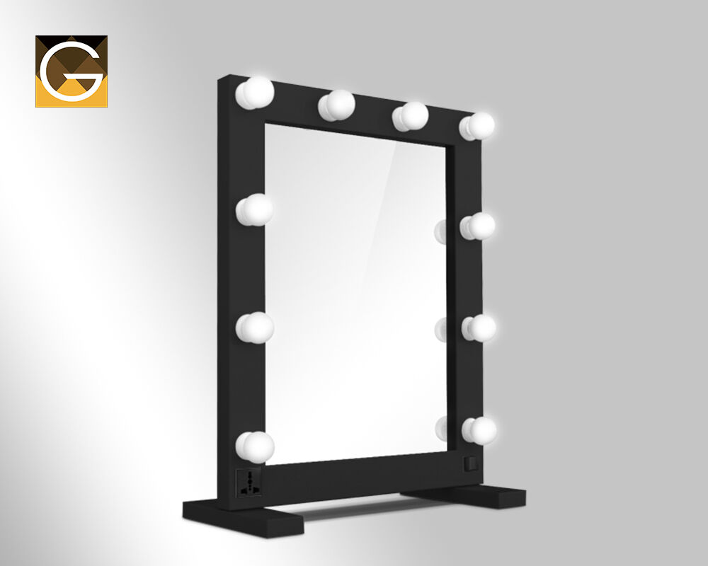 hollywood tabletop mirrors with bulbs led light 12 volt 3 watt bulbs ebay. Black Bedroom Furniture Sets. Home Design Ideas