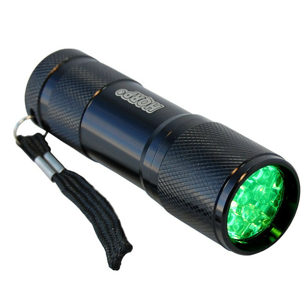 Green Light 9 LED Pocket Aluminum Flashlight for Night ...