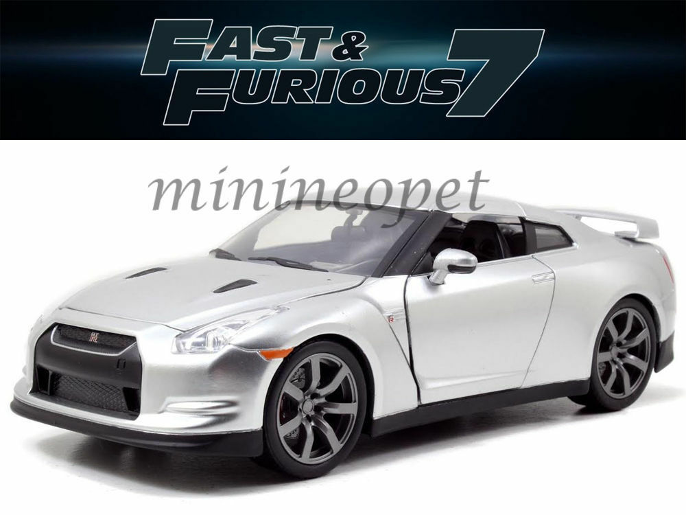 jada 97383 fast and furious 7 brian 39 s 2009 nissan skyline gt r r35 1 32 silver ebay. Black Bedroom Furniture Sets. Home Design Ideas