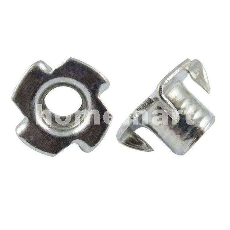 New galvanized steel t nut speaker four claws enchase